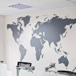 World map wallpaper online shopping world map wallpaper home for sale 2016 wholesales black large world map wall sticker removable double sided visual pattern home decoration house wallpaper free shipping gumiabroncs Image collections