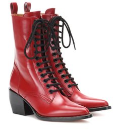 $enCountryForm.capitalKeyWord NZ - Lace-up Red Short Boots Mid Chunky Heel Side Zip Pointy Shoes Women High Increase Tight Boots For Girls Heels Square Size 10