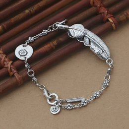 small chain links NZ - Brand new 925 Sterling silver charm bracelet-stamped charm and huge feather charm with smaller feather style with link chain bracelet