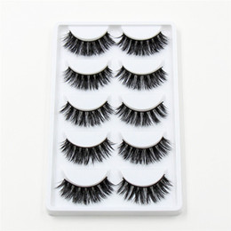 Wholesale 3D Mink False Eyelashes pairs Natural Extension Long Cross Thick Mink Lashes Handmade Eye Lashes K01