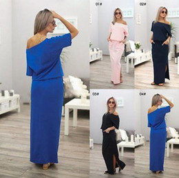dfbc4e4771 Cotton maxi dresses online shopping - Women Boho Maxi Dress Sexy Summer  Short Sleeve Side Slit