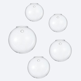 Bubble Walls NZ - Set of 5 blown glass planter wall bubble terrariums wall  mounted vase b1ee129146b8e