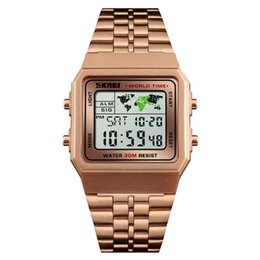 sport stopwatches 2019 - SKMEI 1338 Men Fashion Watch Digital Watches Stopwatch Countdown Waterproof Sports Wristwatch 12 24Hour Clock discount s
