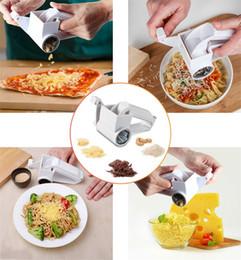 Plastic vegetable slicer online shopping - Hand Held Rotary Grater Multi function Cheese Ginger Slicer Grind Vegetables Tool Plastic Kitchen Gadget Box Packing