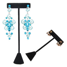 Wholesale t racks resale online - Black Jewelry Earrings Display Rack Stand Holder Stud Piercing Hook Earrings Hanging T Bar for Fair Market Kiosk Stall Trade Show Exhibition