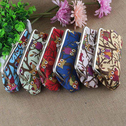 Wholesale zero wallet coin bag owl canvas change purse clutch cosmetic bag cartoon handbag kids women bag top quality