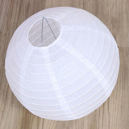 White Party Paper Decoration Australia - 100 Pieces per lot White Chinese Paper Lantern Wedding Children's Birthday Party Baby Shower Hanging Decoration supplies