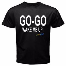 $enCountryForm.capitalKeyWord UK - Wham! Wake Me Up Before You Go-Go Vintage Music George Michael T-Shirt Black Novelty Cool Tops Men Short Sleeve Tshirt