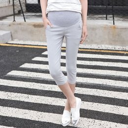 Leggings Pregnant Australia - 2018 New Summer Maternity Leggings Low Waist Pregnancy Belly Pants For Pregnant women Maternity Thin Trousers Clothes Leggings