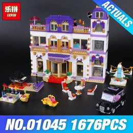 Grand models online shopping - IN STOCK Lepin Girls Friends Heartlake Grand Hotel Building Block DIY Bricks Compatible With Legoing Model for Girls Gift