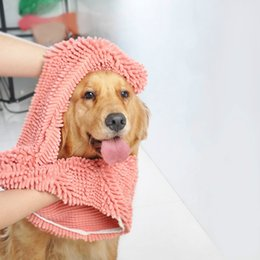 $enCountryForm.capitalKeyWord NZ - Multipurpose Pet Drying Towel Ultra-absorbent Dog Bath Towel Blanket fiber chenille L80*W35 Puppy Dog clean Pet Product