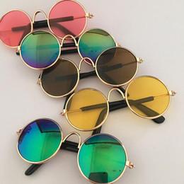 Prop Sunglasses Canada - Fashion Glasses Small Pet Dogs Cat Sunglasses Eyewear Protection Pet Cool Glasses Pet Sun Glasses Photos Props color randomly