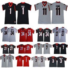 Georgia Bulldogs jersey 1 Michel 7 D Andre Swift 11 Jake Fromm 27 Nick  Chubb 34 Herchel Walker 3 Todd Gurley II Limited College Jerseys 5445a7e71