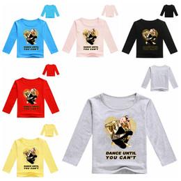 Long sLeeved shirts for boys online shopping - 12 styles JOJO long sleeve jojo print T shirts for baby girls boys new shirt Tops cotton children Tees kids Clothing DHL fast shipping