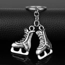 Figure Skating Wholesale NZ - dongsheng Anime YURI!!! on Keychain Yuri Katsuki Victor Nikiforov Skates Keyring Figure Skating Keyring Key Chain Holder