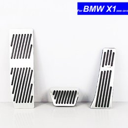 Brake Pedals NZ - Car Petrol Clutch Fuel Brake Braking Pad Foot Pedals Rest Plate for BMW X1 2006 2007 2008 2009 2010 2011 2012 ~ 2017 Auto Pedals