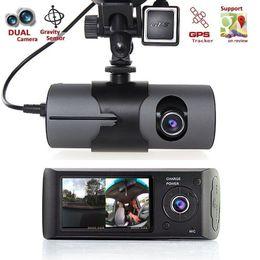 "Vehicle Rearview Camera Australia - 2018 Upgraded 2.7"" Dual Lens LCD Vehicle Car DVR Camera Video Recorder Dash Cam G-Sensor GPS Free Shipping"