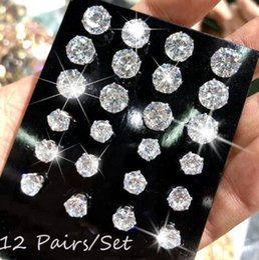 9f97b6fe3 Cheap Crystal Stud Earrings Australia - Hot sale cheap Round six-prong  setting zircon ear