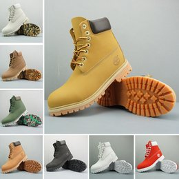 Women high White boots online shopping - 2018 Original Timberland Brand boots Women Men Designer Sports Red White Winter Sneakers Casual Trainers Mens Women Luxury ACE boot