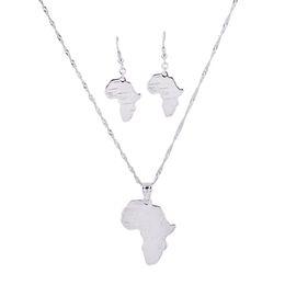 Rose Pendant Jewellery Australia - Silver Rose Gold Africa Map Pendant Necklace with Rhinestone Hip Hop Jewellery