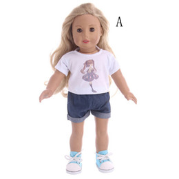 cloth toys patterns 2018 - girl pattern T-shirt+pants Wear fit 43cm Baby Born for zapf doll clothes accessories,Children best Birthday Gift Doll Cl