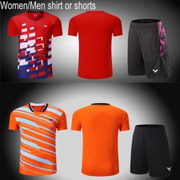 $enCountryForm.capitalKeyWord Australia - New 2018 Victor Men women badminton sportswear t-shirt,Malaysia Competition badminton tennis jersey clothes Quick-drying table tennis shorts