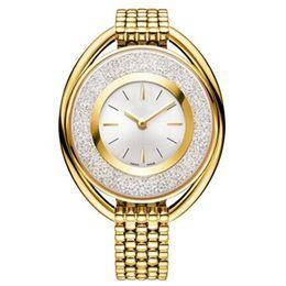Fashion popular watch online shopping - 2017 popular Luxury women watch with running diamond Fashion lady dress watch model Women watch famous brand Relojes De Marca Mujer