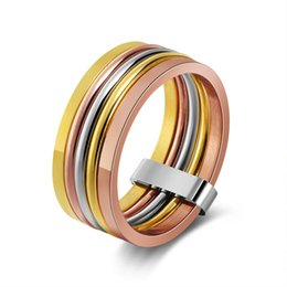 China Fashion Bands Wide Statement Cocktail Rings for Women Three Colors Femme Ring Jewelry wholesale ZK40 cheap statement rings suppliers