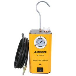 Chinese  Wholesale-New Look AUTOOL SDT-202 Car Smoke Machines For Sale For Cars Leak Locator Automotive Diagnostic Leak Detector SDT202 manufacturers