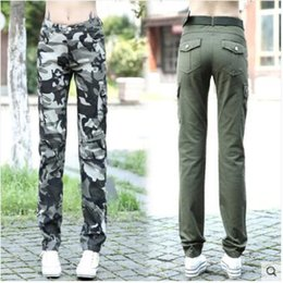 e5ef2d2d1ab New spring fashion women s cotton fabric casual cool military camouflage  print army green cargo pants long trousers plus size SMLXLXXL3XL