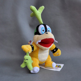"super hot games NZ - Hot New 7"" 18CM Super Mario Bros Koopa Iggy With Green Grass Plush Doll Anime Collectible Stuffed Dolls Kid's Gifts Soft Toys"