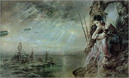 Fantasy girl painting online shopping - Luis Royo Fantasy Art A Girl Oil Painting Reproduction High Quality Giclee Print on Canvas Modern Home Art Decor