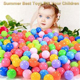 $enCountryForm.capitalKeyWord Australia - 100pcs Ball Pit Colorful Soft Plastic Ocean Balls Baby Kid Toys Swim Pit Toys Ball Summer Best Toys For Your Children