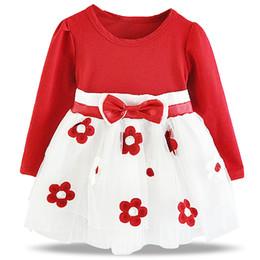 $enCountryForm.capitalKeyWord NZ - Newborn Bebes Baptism Dress hot Winter Girl Clothes Flower Baby Girl Wedding Christening Gown Tutu 1 2 Years Birthday Outfits