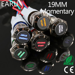 Engine Start Australia - 1pc 19mm Waterproof Stainless Steel Metal LED Momentary Power Push Button Switch Racing Car Auto Motorcycle Engine Start Starter