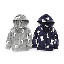 $enCountryForm.capitalKeyWord Australia - 2018 Korean Style Fashion Cute Dinosaur Spring Children Coat Autumn Kids Jacket Boys Outerwear Coats Kids Clothes
