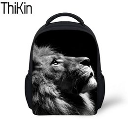Wholesale THIKIN Baby Mini School Bags for Kids Animal Lion Pattern Printing Kindergarten Backpack Boys Cool Schoolbag Backpacks Satchel