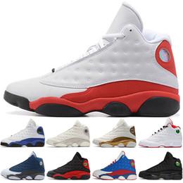Discount rubber eva latex - 13 13s Mens Basketball Shoes Phantom Chicago GS Hyper Royal Black Cat Flints Bred DMP Defining Moments men sports sneake