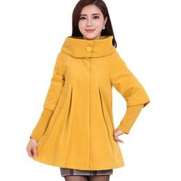 Woolen Coat Women 2016 New Autumn and Winter Korean Long Section Loose  Woolen Cape Coats Female Student Jacket Coat LH390 c99211be09f8