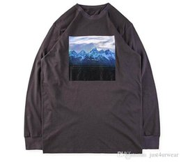 654d6214 New High Street Kanye West Tees Mens Mountains Pattern I Hate Being  Bi-Polar Print Long Sleeved T-shirt Women Hip Hop Tees Lovers Tops