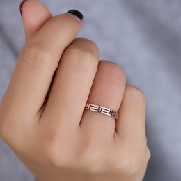 Hollow Fingers Australia - New Arrival Rose Gold color Titanium Steel Hollow Out Design Depth Women 3 mm Cheap Finger Rings US size 4 to 10 Available