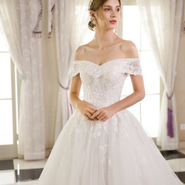 turkey pictures NZ - Vintage Lace Turkey ball gown Wedding Dresses Off The Shoulder Sleeves Appliques Modest arabic plus size Bridal Gowns Country Wedding Gowns