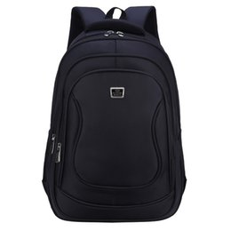 Laptop Cushion Australia - High Quality Waterproof Nylon Black Business Backpack For Men Large Capacity Air Cushion Belt Travel Laptop Backpacks Back Pack