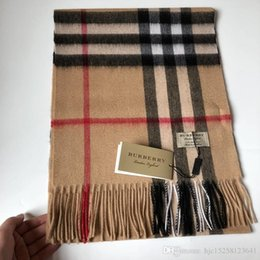 e8f15b1783987 2018 Fashion Winter Luxury Brand Top 100% Cashmere Scarf For Women and Men Designer  Classic Large Check Blanket Scarves Scarfs Pashmina