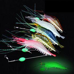 Hard Bait Shrimp Australia - Realistic Soft Muddy Prawn Luminous Squid bait 6g 9cm 5colors 3D Bionic Artificial Shrimp Fluorescence fishing lure
