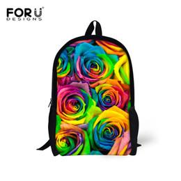 1ac30f4a7831 FORUDESIGNS 3D Floral Women Backpack Rose Paern Children Travel Backpack  Casual Shoulder Mochila Infantil For Girls Rucksack