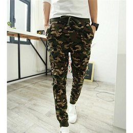 $enCountryForm.capitalKeyWord NZ - Wholesale-Camo Joggers Pencil Pants 2016 Fashion Slim Fit Camouflage Pants Men Pants For Track New Arrival KH853402