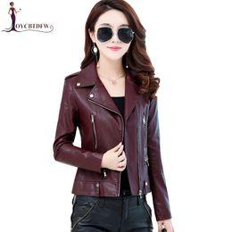 Luxury Motorcycle Jackets Australia - Genuine Leather jacket Large size M-4XL autumn women short sheepskin leather Motorcycle outerwear slim luxury coat FASHION489