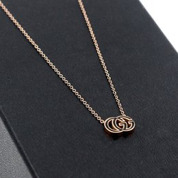 Necklaces Pendants Australia - Women Letter G Pendant Necklace Titanium Steel Luxury Chain Necklace Top Quality Jewelry Gift for Love Epacket Shipping