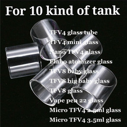 Micro Mini baby online shopping - TFV4 Mini Nano TFV4 Elabo Atomizer TFV8 Big Baby Vape pen Micro TFV4 ml ml Clear Replacement Pyrex Glass Tube